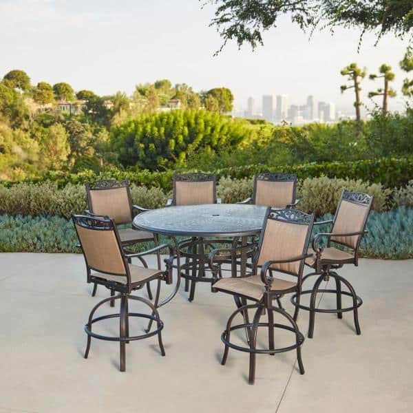 Royal Garden Tuscan Estate Aluminum, Outdoor Patio Furniture Bar Height Dining Set
