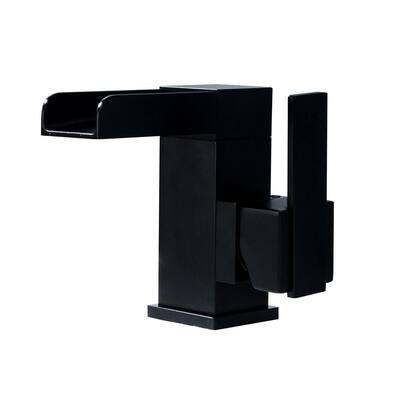Single Hole Single-Handle Bathroom Faucet in Matte Black