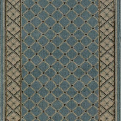 Stratford Bedford Light Blue 33 in. x Your Choice Length Stair Runner