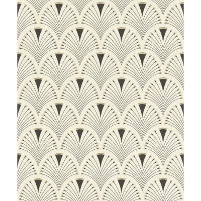 Ruhlmann Cream Fan Cream Wallpaper Sample