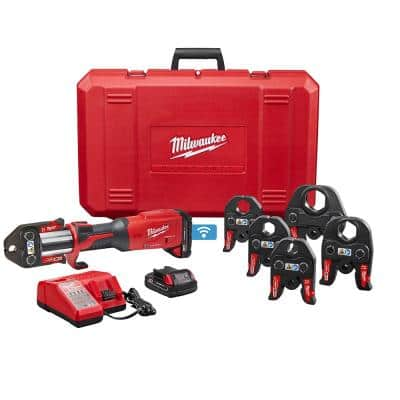 M18 18-Volt Lithium-Ion Brushless Cordless FORCE LOGIC Press Tool Kit with 1/2 in. - 2 in. Jaws Kit (6-Jaws Included)