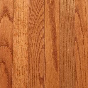 Laurel Gunstock Oak 3/4 in. Thick x 2-1/4 in. Wide x Varying Length Solid Hardwood Flooring (20 sq. ft. / case)