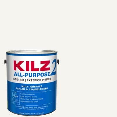 ALL PURPOSE 1 Gal. White Interior/Exterior Multi-Surface Primer, Sealer, and Stain Blocker
