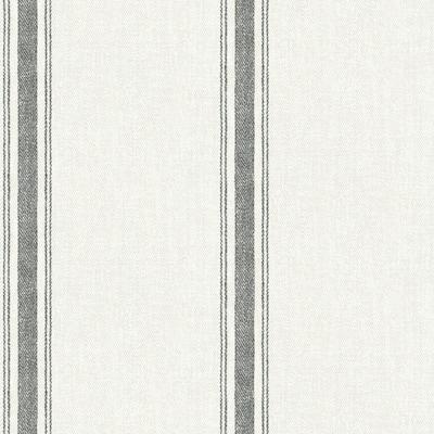 Linette Black Fabric Stripe Black Wallpaper Sample