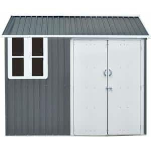 6 ft. x 8 ft. x 7 ft. Galvanized Steel Nordic Storage Shed