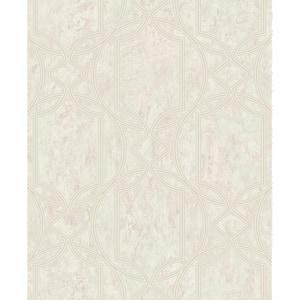 Deco Geo Beige Wallpaper Sample