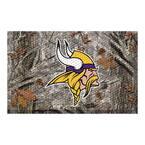 NFL - Minnesota Vikings 19 in. x 30 in. Outdoor Camo Scraper Mat Door Mat