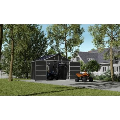 Yukon 11 ft. W x 9 ft. D x 8.3 ft. H Dark Gray Garage Shed