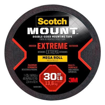 Scotch 1 in. x 11.1 yds. Permanent Double Sided Extreme Mounting Tape (Case of 8)