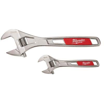 6 in. and 10 in. Adjustable Wrench (2-Pack)