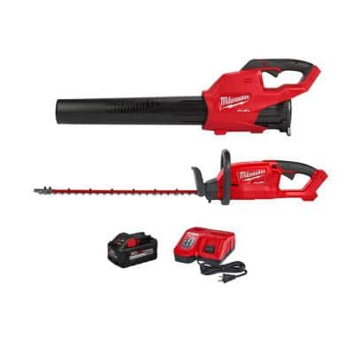 M18 FUEL 120 MPH 450 CFM 18-Volt Lithium-Ion Brushless Cordless Handheld Blower Kit with M18 FUEL Hedge Trimmer(2-Tool)