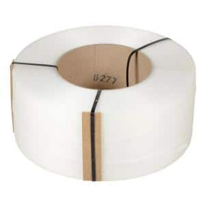 9,900 ft. Roll 9 in. x 8 in. Core Clear Poly Strapping