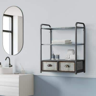 Montclair Ready to Assemble 24.6 in. W x 11.8 in. D x 30.1 in. H Hanging Wall Cabinet Metal