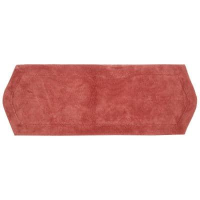 Waterford Collection Coral 22 in. x 60 in. Cotton Bath Rug