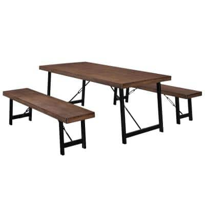 Blaise Natural Walnut Dining Set (3-Piece)
