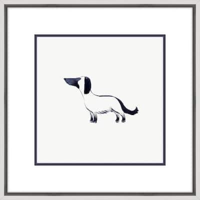 Brushed Ink Dog I Framed Giclee Dog Art Print 22 in. x 22 in.