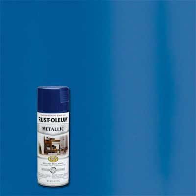 11 oz. Metallic Cobalt Blue Protective Spray Paint (6-Pack)