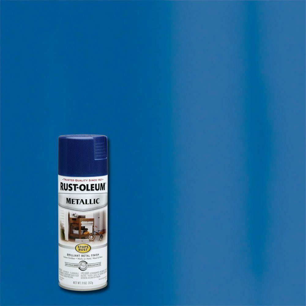 11 oz. Metallic Cobalt Blue Protective Spray Paint