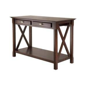 Xola 45 in. Cappuccino Standard Rectangle Wood Console Table with Drawers