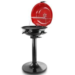 15 in. Electric Barbecue Grill in Red
