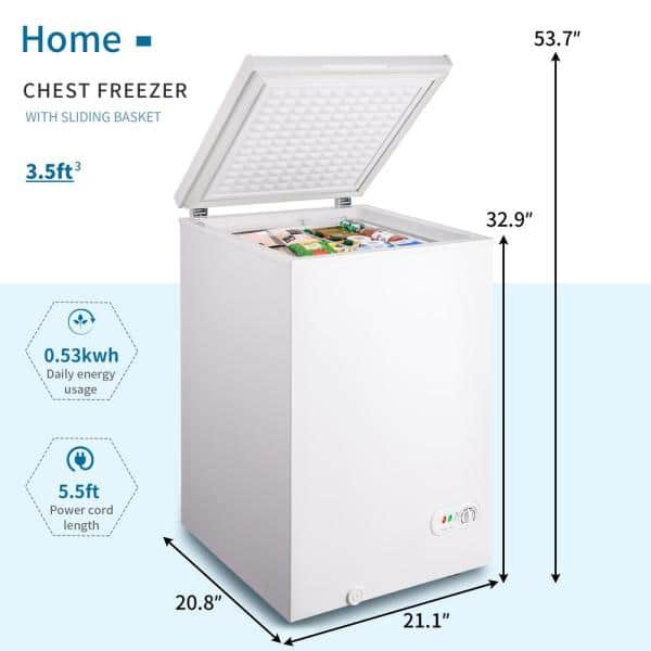 Appliances Chest Freezers 5.0 Cu.Ft Chest Freezer with 3 Removable ...