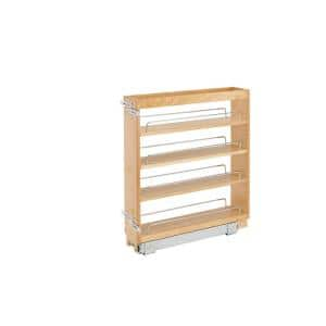 448-BC-5C 5 in. Pull-Out Wood Base Kitchen Cabinet Organizer (Maple) Decorative Wall Shelf