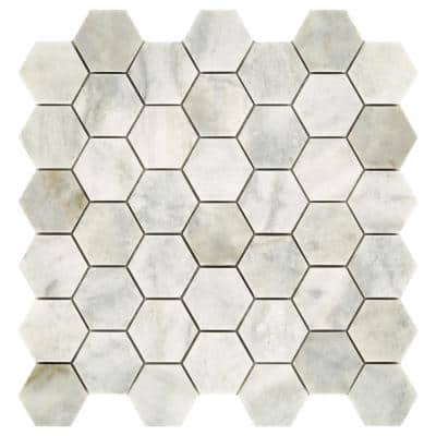Restore Coastal Honed 12 in. x 12 in. x 8 mm Marble Mosaic Floor and Wall Tile (0.97 sq. ft./ Each)