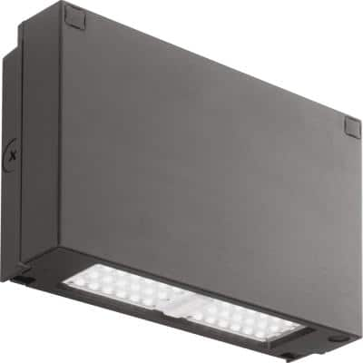 Contractor Select 150-Watt Equivalent Integrated LED Bronze Wall Pack Light, 4000K