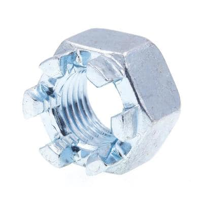 3/8 in. to 24 in. Zinc Plated steel Castle Nuts(10-Pack)