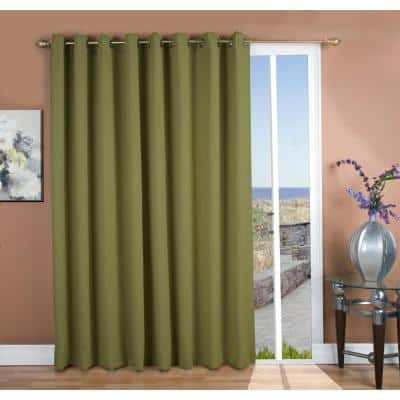Sage Grommet Blackout Curtain - 112 in. W x 84 in. L