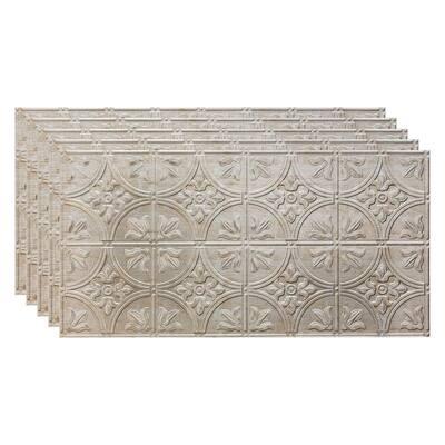 Traditional #2 2 ft. x 4 ft. Vintage Metal Glue Up Vinyl Ceiling Tile (40 sq. ft.)