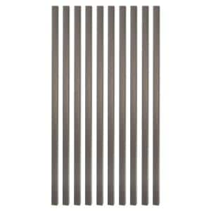 32 in. x 3/4 in. Antique Bronze Square Deck Railing Baluster (10-Pack)