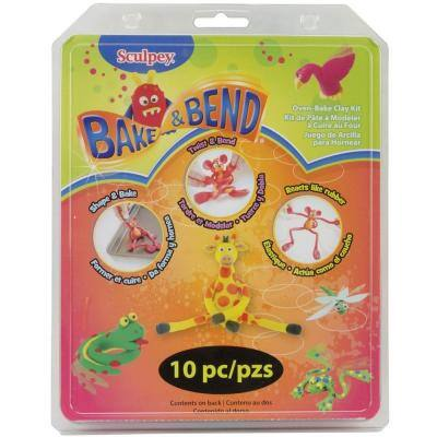 Assorted Colors Bake and Bend Clay Kit