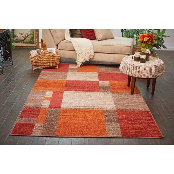 Unique Loom Autumn Providence Multi 9 0 X 12 0 Area Rug 3138285 The Home Depot