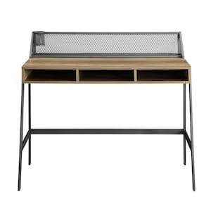 43 in. Rectangular Reclaimed Barnwood Writing Desks with Built-In Storage