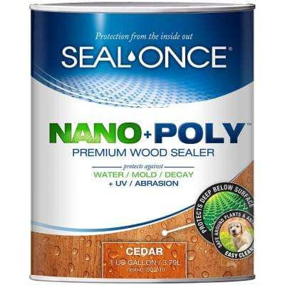 Seal-Once 1 gal. Cedar Ready Mix Penetrating Exterior Wood Stain and Sealer with Polyurethane
