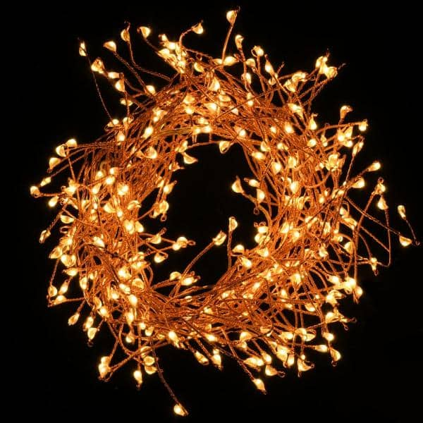 Lumabase 300 Lights Led Copper Electric Firecracker Fairy String Lights 58401 The Home Depot