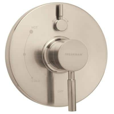 Neo 1-Handle Wall Mount Pressure Balance Valve and Trim in Brushed Nickel