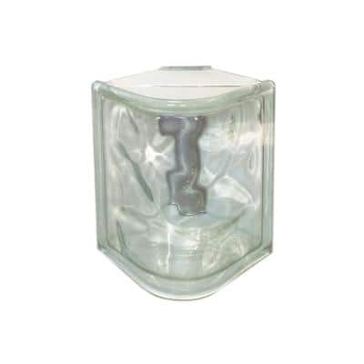 Nubio 4 in. Thick Series 5 x 8 x 4 in. (6-Pack) Corner Wave Pattern Glass Block (Actual 4.9 x 7.75 x 3.9 in.)
