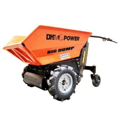 8 cu. ft. 1100 lbs. Capacity Electric Powered Dump Cart with Auto-Stop Release and Brake