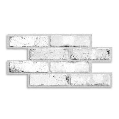 Brik Sidney 21.28 in W x 10.86 in. H Gray Peel and Stick Self-Adhesive Mosaic Wall Tile Backsplash (2-Pack)
