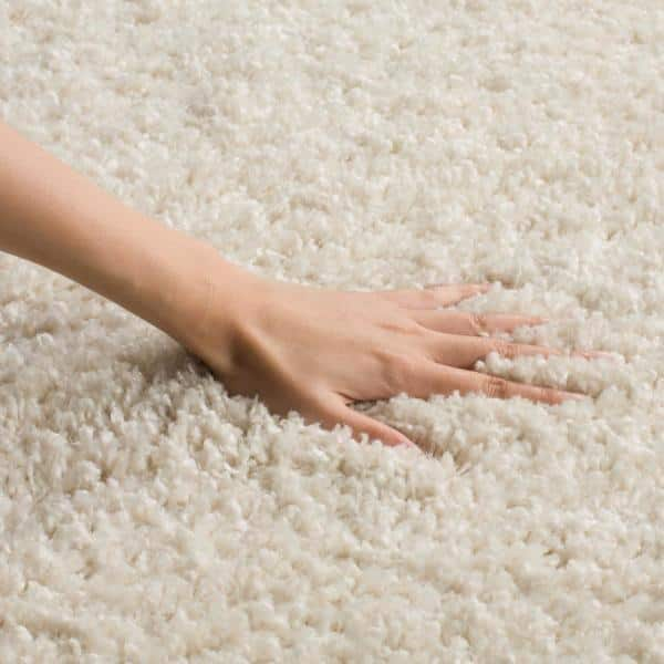 Safavieh Arizona Shag Cream 8 Ft X 10 Ft Area Rug Asg820a 8 The Home Depot