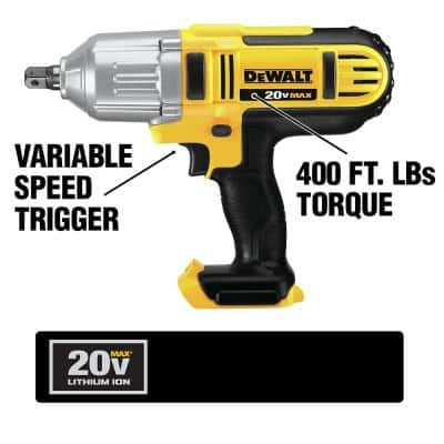 20-Volt MAX Li-Ion Cordless 1/2 in. High Torque Impact Wrench with Detent Pin (Tool-Only) w/ 20-V Recip Saw (Tool-Only)
