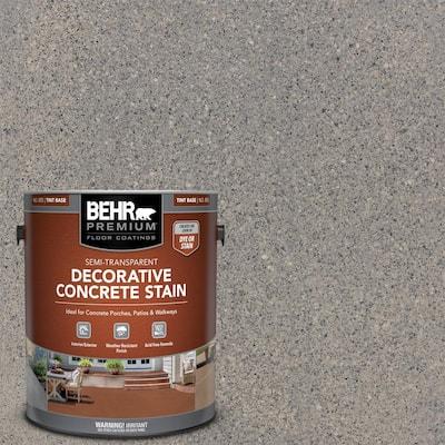 1 gal. #DCS-825 Industrial Gray Semi-Transparent Flat Interior/Exterior Decorative Concrete Stain