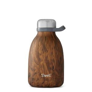 40 oz. Teakwood Roamer Stainless Steel Roamer Triple-Layered Vacuum-Insulated Bottle