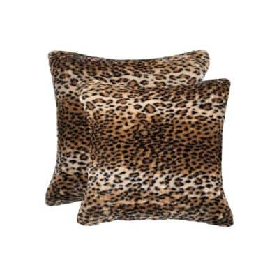 Josephine Multi-Colored Animal Print 18 in. x 18 in. Polyester Throw Pillow (Set of 2)