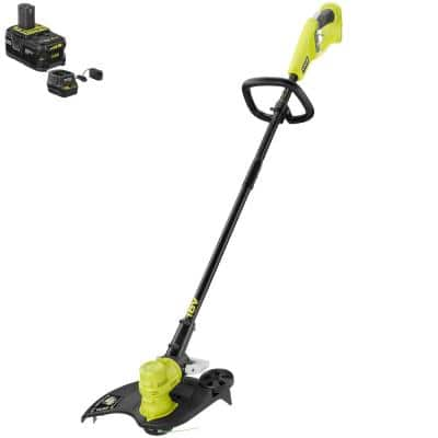 ONE+ 18V 13 in. Cordless Battery String Trimmer/Edger with 4.0 Ah Battery and Charger