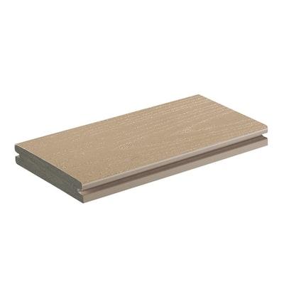 AZEK Harvest 1 in. x 5.5 in. x 1 ft. Brownstone PVC Deck Board Sample