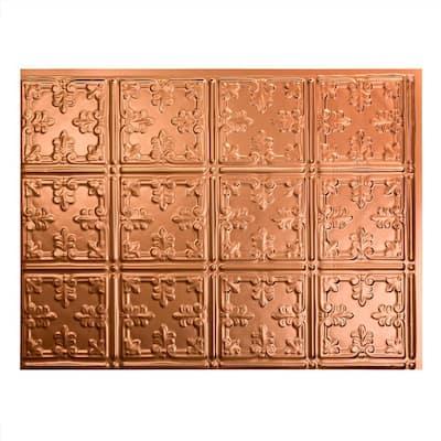 18.25 in. x 24.25 in. Traditional #10 Vinyl Backsplash Panel in Polished Copper (5-Pack)