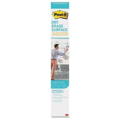 24 in. (2 ft.) W x 36 in. (3 ft.) L Dry Erase Rectangle Surface, White (1-Pack)